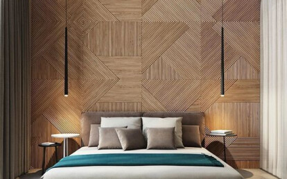 Bedroom - Accent Wall - Geometric