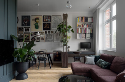 Atmospheric apartment in a tenement house