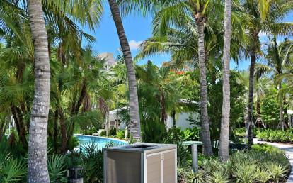 Weatherproof Pool Towel Return Enclosure