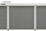 Large Custom Valet Desk With Fridge Space, Package Storage and Key Locker