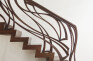 Zig zag stairs with oblique riser