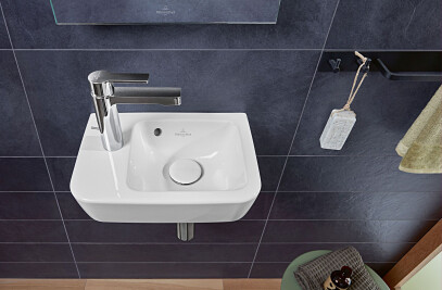 O.novo rectangular washbasins