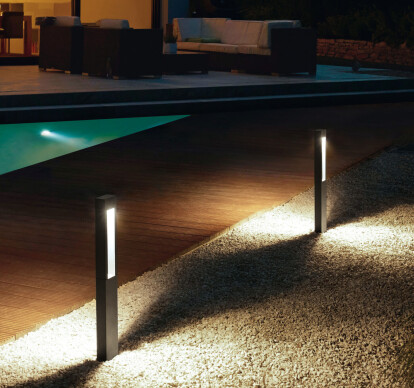 LED garden and pathway luminaire for the private sector