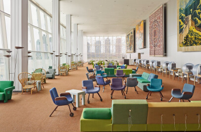 New interior for United Nations Delegates' Lounge