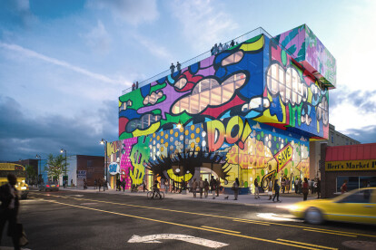 MVRDV designs mixed-use building in Detroit completely wrapped in glass mural