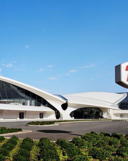 Eero Saarinen's iconic TWA Flight Center repurposed as a 21st-century luxury hotel