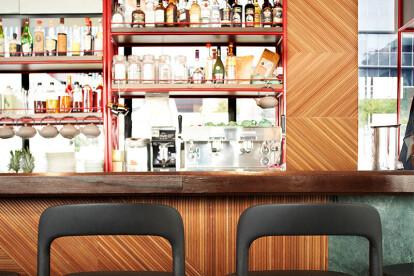 Ebisu Stool, design by Jun Yasumoto for IndustryPlus at Caffe Fernet, Singapore