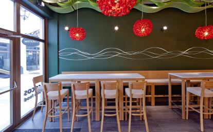 Cherry Moon pendant at Asian Restaurant