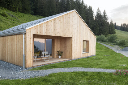 Minimalist Whitepod eco-chalet concept embraces Swiss chalet traditions