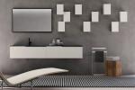 Steel Storage Cubes and URBAN Towel Rail with URBAN Vanity