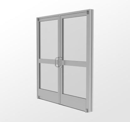 20D Narrow Stile Commercial Entrance