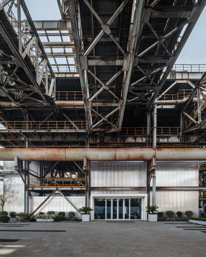 Kokaistudios transform a disused steel production site into a mixed-use eco-industrial park