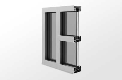YES 40 FI Outside Glazed, Center Set Storefront System