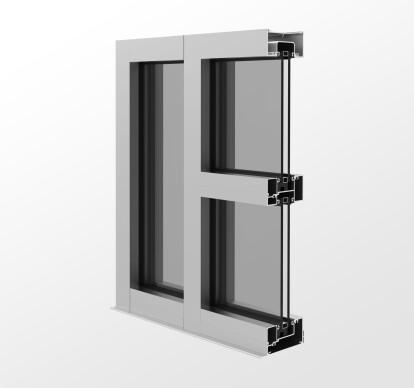 YES 40 FI Outside Glazed, Center Set Storefront System