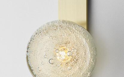 Fizi Ball Wall Sconce with kick Brass