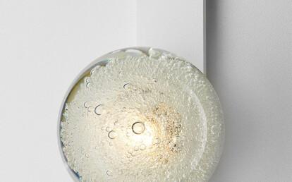 Fizi Ball Wall Sconce with kick Matte White