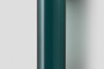 Articolo Float Hover Tall Wall Sconce brass with latte leather inlay, drunken emerald shade