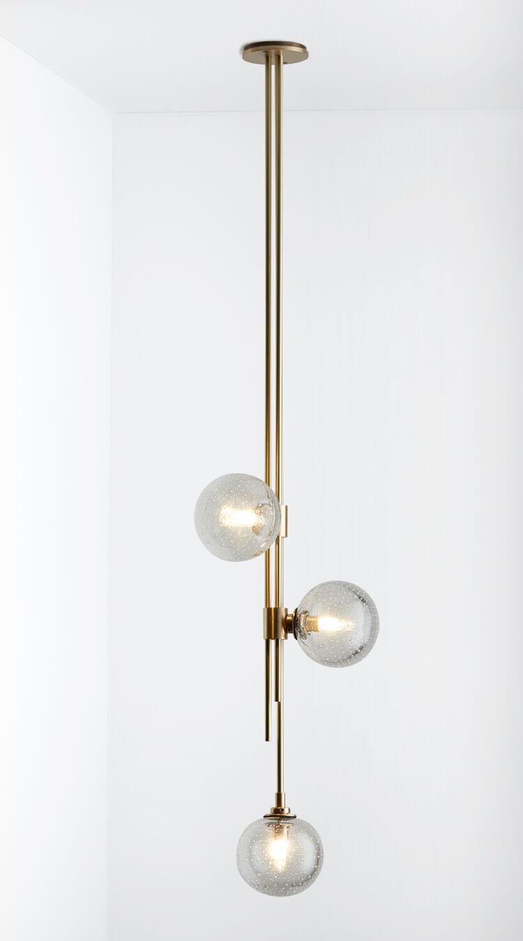 Trilogy Pendant brass with scandi