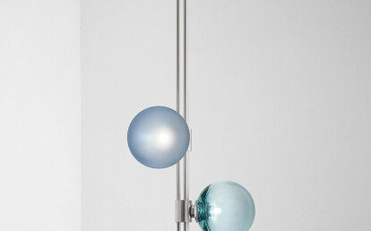 Trilogy Pendant satin nickel with sea blue and green solo