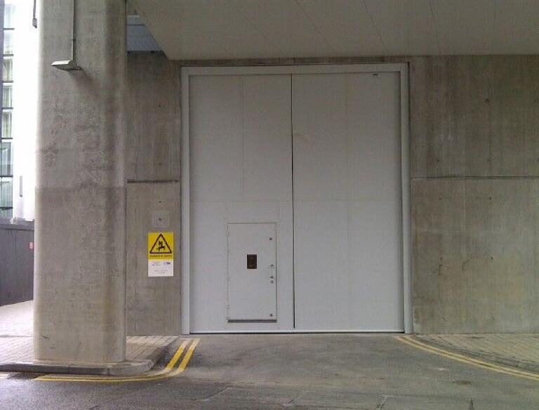 Clark Door Acoustic and Fire Rated Double Leaf Oversized Swing/Hinged Door with Pass Door