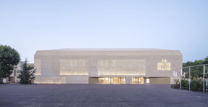 Antonio Virga completes monolithic brick and aluminium cinema complex