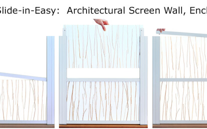 DeepStream's Anodized aluminum Slide-in-Easy Screen Wall Assembly to 12'
