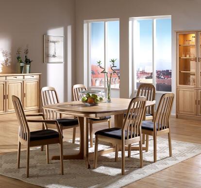 OAK DINING ROOM SETTING FREDERIKSBORG