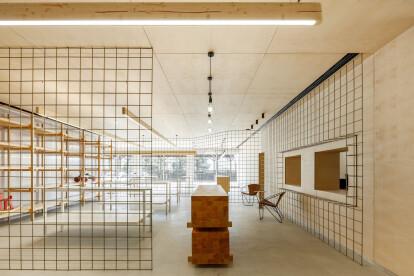 Open plan warehouse concept achieves a playful sense of exploration