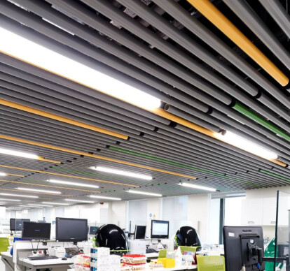 BAFFLE SUSPENDED CEILING SYSTEM-CIRCULAR-METAL
