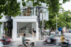 Nguyen Khai Architects & Associates propose a minimalist design solution for the renovation of a tiny urban house