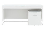 Desk and filing cabinet for hanging files