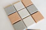 Quadrato 8: 8x8 cm tiles for an acoustic mosaico