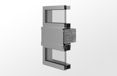 YWW 50T Thermally Broken Window Wall System with Optional Slab Edge Cover