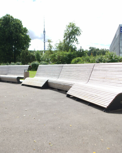 Area at 57 pavilion at VDNKh, Moscow (2016)