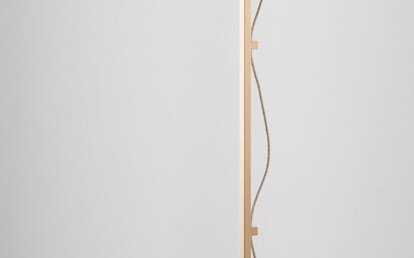 Lumi Floor Lamp Brass with clear/white shade