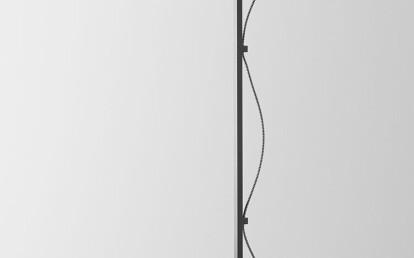 Lumi Floor Lamp Articolo Black smoke/frosted smoke shade