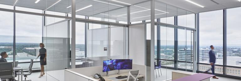 Leidos Headquarters Jlc Tech Linear Led Lighting Media Photos And Videos Archello