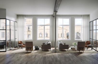 Interior Visualization of Modern Office in SoHo