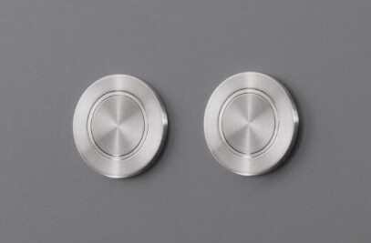 PUL06 - Pair of buttons for dual flush Geberit (Sigma) cistern installed on panel accessible for inspection