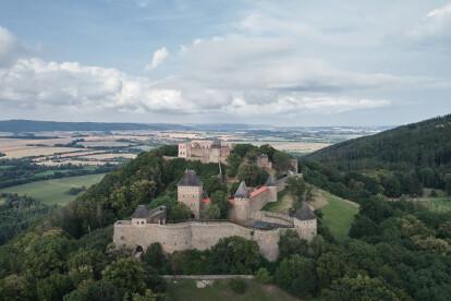Atelier-r weaves corten steel routes through 14th century castle ruin