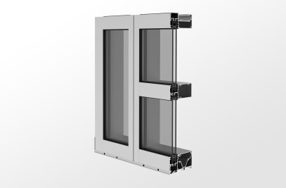 YWW 50 TU Thermally Broken Window Wall System with Optional Slab Edge Cover