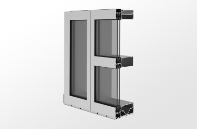YWW 60 TU Thermally Broken Window Wall System with Optional Slab Edge Cover