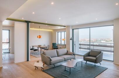 Castellana Apartment in Madrid Renovated