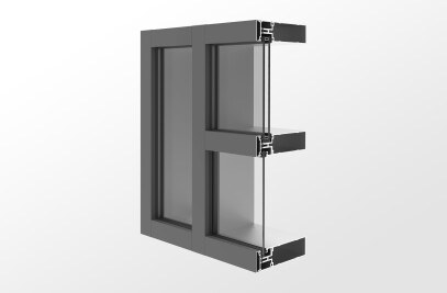 YCW 752 Outside Glazed Pressure Wall System