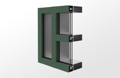 YCW 750 XTP Advanced Thermal Curtain Wall System with Polyamide Pressure Plates