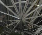 frames mock up test on the ceiling