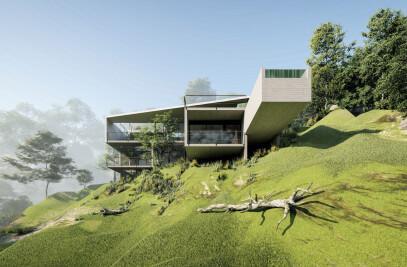 Trapeze house