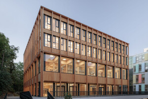 Digitized timber construction stars in Vienna's new BOKU campus building