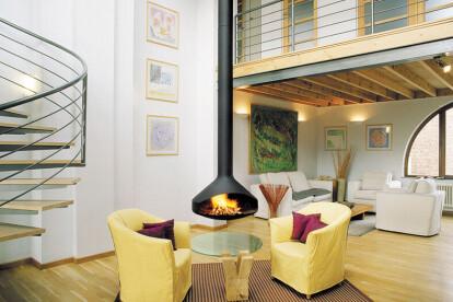 Ergofocus Indoor Suspended Fireplace