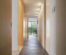 Sliding doors opened